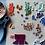 Thumbnail: Bague ronde VINTAGE mosaïque de micro terres cuites émaillées tons VERT & BLEU