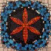 tableau mosaïque France Toulouse oranfe émaux de Briare, terres cuites émaillées