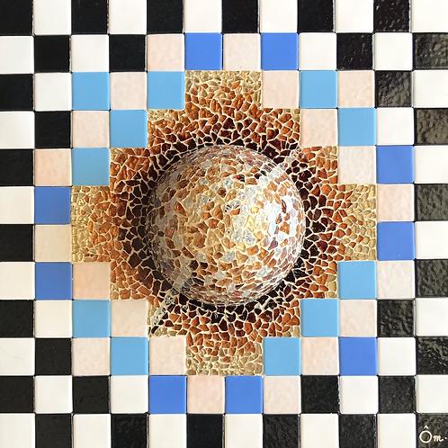 """""""POLARIS"""" (2021) - Tableau mosaïque - 30 cm x 30 cm"""