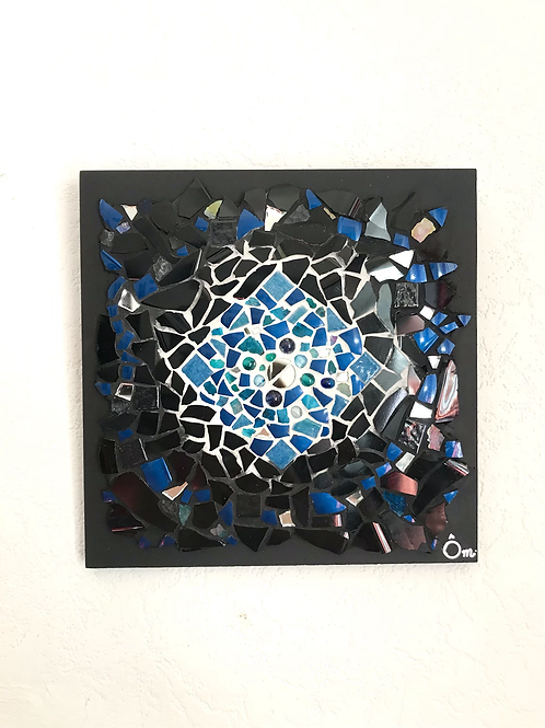 """Tableau """"Psychedelic BLUE"""" (20 x 20 cm ) - 2020"""