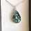 Thumbnail: Collier argent 925 avec pendentif GOUTTE D'EAU mosaique de verre
