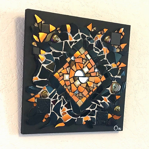 "Tableau ""CHAKRA ORANGE"" (20 x 20 cm ) - 2021"