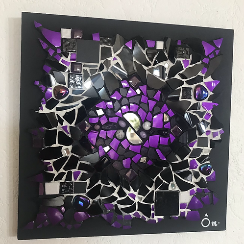 """Tableau """"CHAKRA VIOLET""""  (20 x 20 cm ) - 2020"""