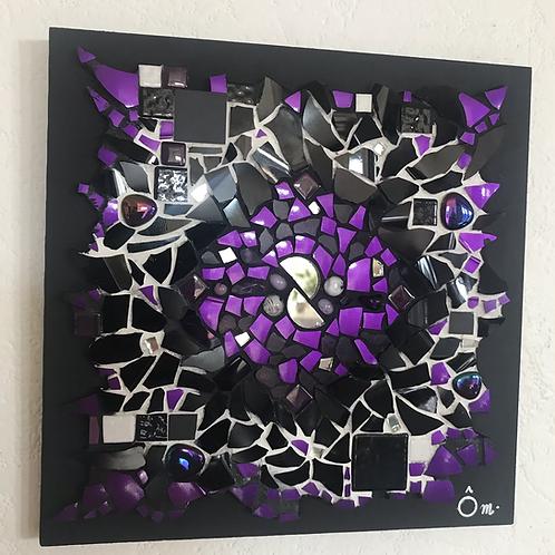 "Tableau ""Psychedelic PURPLE"" (20 x 20 cm ) - 2020"