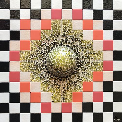 """""""SPICA"""" (2021) - Tableau mosaïque - 30 cm x 30 cm"""