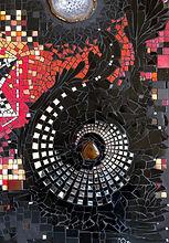 le jardin d'éveil, tableau mosaïque, Aurélie Martignac, Toulouse, spirale