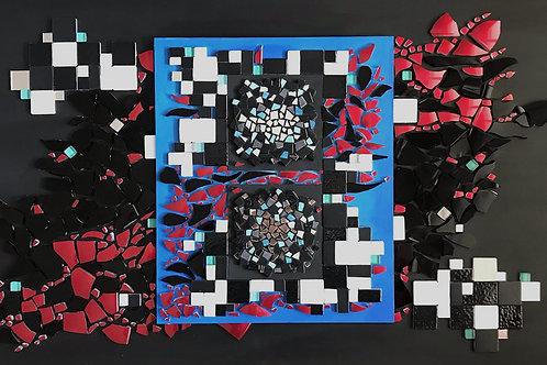 """Tableau """"Univers parallèle"""" (39,5 cm x 70 cm) - 2020"""