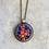 Thumbnail: Collier VINTAGE pendentif rond - mosaïque & Améthyste