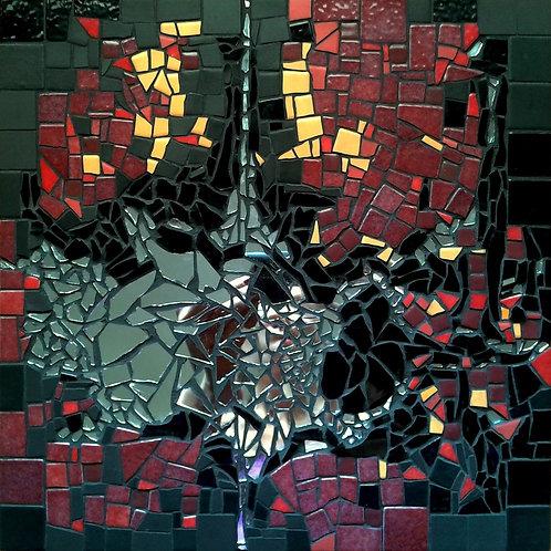 """""""PASSE-TEMPS"""" (2014) - Tableau mosaïque - 30 cm x 30 cm"""