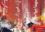 peinture sur toile, cité lointaine, artiste, Toulouse, Aurélie Martignac