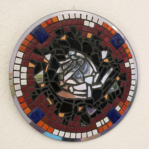 """""""INTUITION""""création mosaïque (2014) - diamètre 25 cm"""