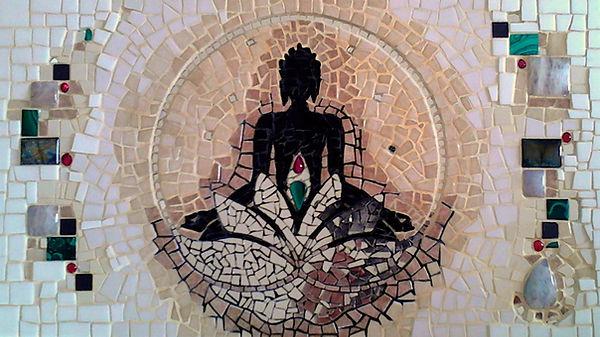 Bouddha, Buddha, lotus, zen, mosaïque, Toulouse, Aurélie Martignac