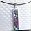 Thumbnail: Collier STELLA pendentif en Argent 925 - mosaïque Or, jaune, turquoise et violet