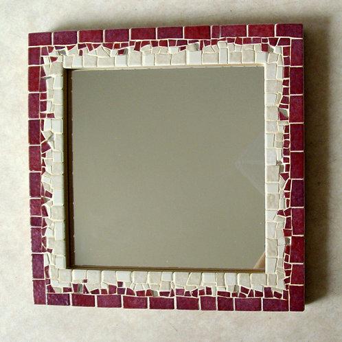 Miroir carré NEHA - 26,3 x 26,3 cm - Emaux de Briare