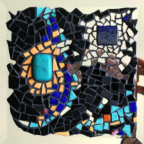 """""""CONEXION"""" tableau mosaïque (2015) - 19,5 cm x 19,5 cm"""
