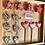 Thumbnail: Le lot de 3 Décorations de table : 2 étoiles et 1 sapin en bois et mosaïque
