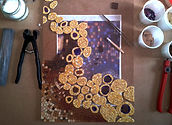 Mosaic creation, in progress, Aurelie Martignac, Omosaicdesign
