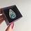Thumbnail: Bague GOUTTE D'EAU Nymphéa argent 925 mosaïque de verre irisé