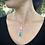 Thumbnail: Collier en argent avec pendentif rectangulaire & mosaïque de verre irisé