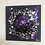 "Thumbnail: Tableau ""CHAKRA VIOLET""  (20 x 20 cm ) - 2020"