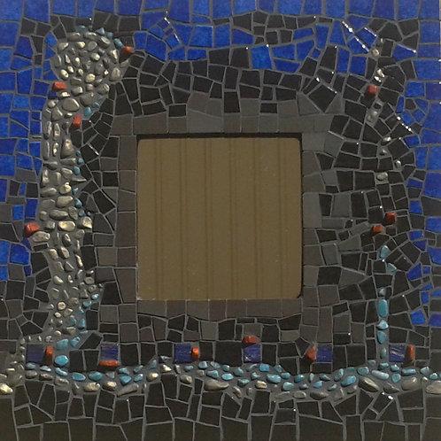 "MIROIR ""COBALT"" (25,5 cm x 25,5 cm)"