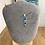 Thumbnail: Collier pendentif OVALE LONG argent 925 - mosaïque Bleu, Vert et Or