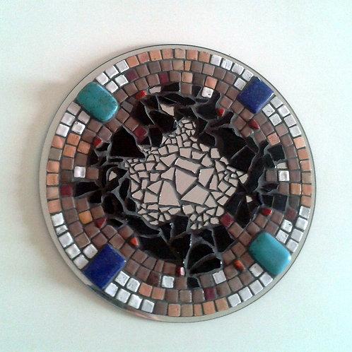 """""""VIBRATION""""création mosaïque (2014) - diamètre 25 cm"""