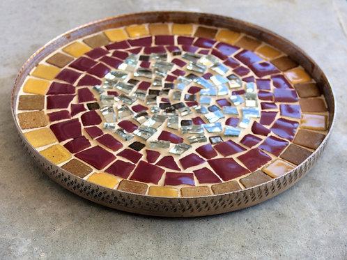 """""""MILA"""" coupelle décorative - mosaïque de terres cuites émailées"""