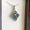 Thumbnail: Collier argent 925 avec pendentif LOSANGE  mosaïque de verre multicolore