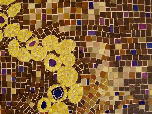 """Tableau mosaïque """"ETERNITY"""" (2014) - 40 cm x 30 cm"""