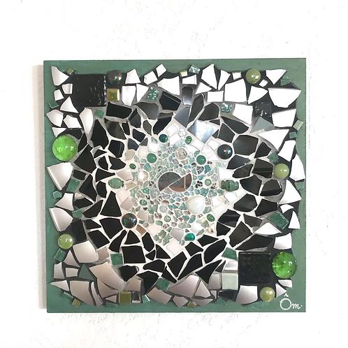 Tableau «CHAKRA VERT» (20 x 20 cm ) - 2020