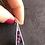 Thumbnail: Collier pendentif argent 925 - mosaïque de verre tons rose, violet, turquoise