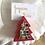 Thumbnail: Décoration de table : sapin de Noël en bois et mosaïque
