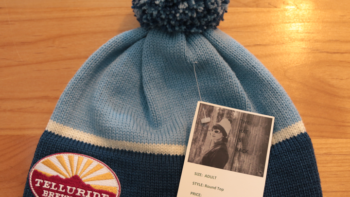 M3 Telluride Brewing Co Knit Hat - Blue with Pom