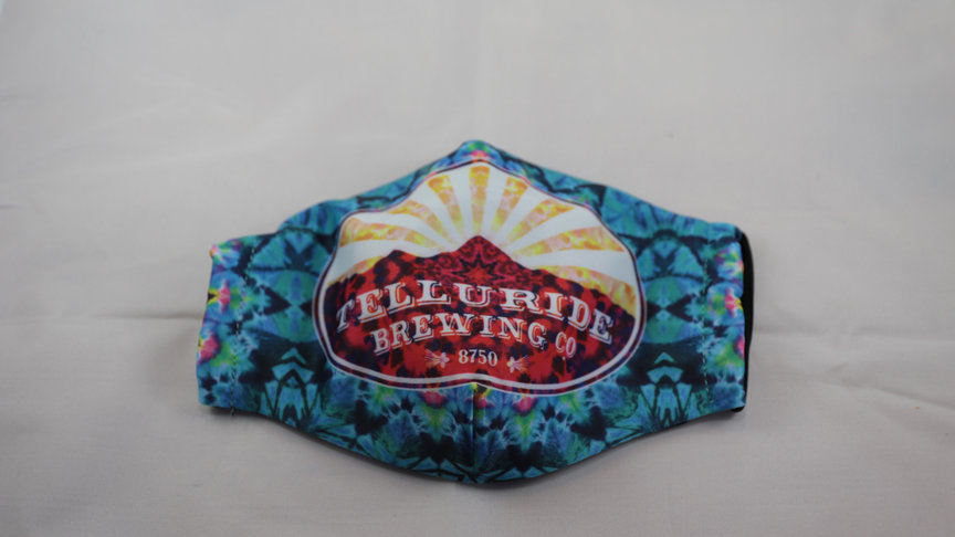 Telluride Brewing Co Blue Face Mask