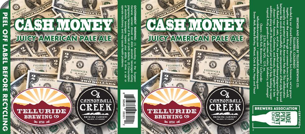 Cash Money USTL label 2 Dollar Bills ART