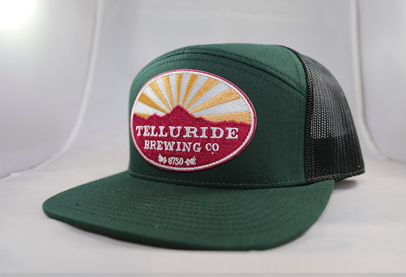 Two Tone Hunter Green Telluride Brewing Co Hat