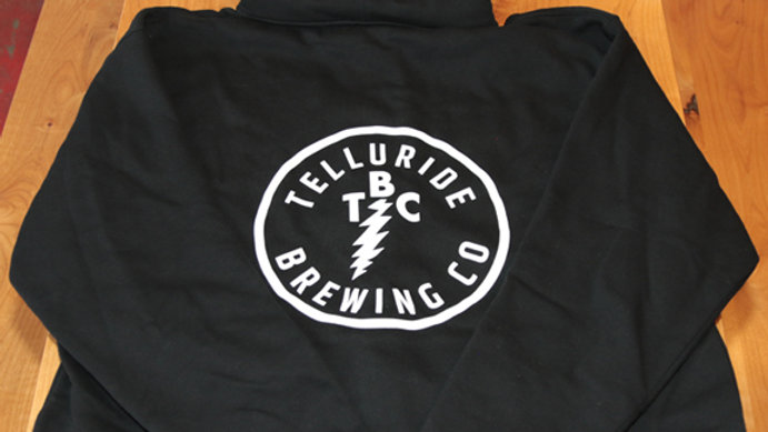 Telluride Brewing Co Black Zip-Up Hoodie