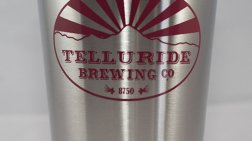 Telluride Brewing Co Stainless Steel Pint Glass