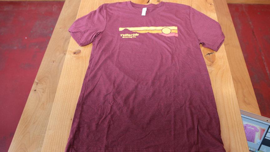 Telluride Brewing Co Richardson Maroon Sunset T-Shirt