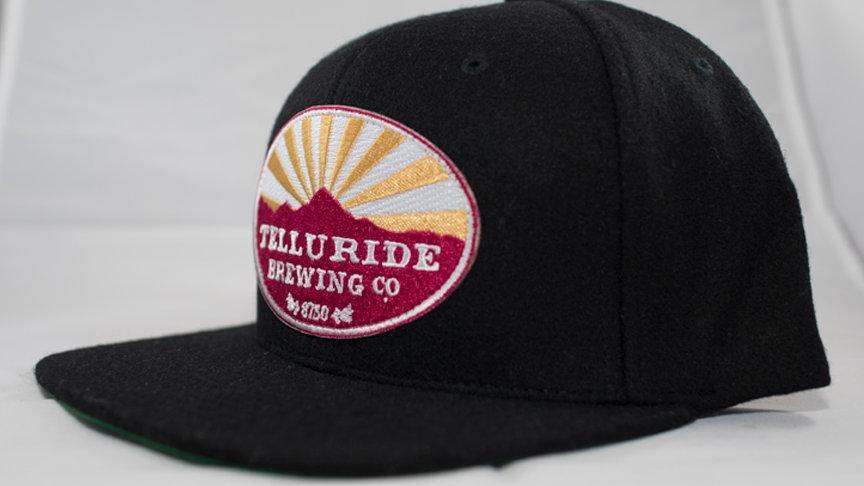 Flat Brimmed Felt Logo Hat