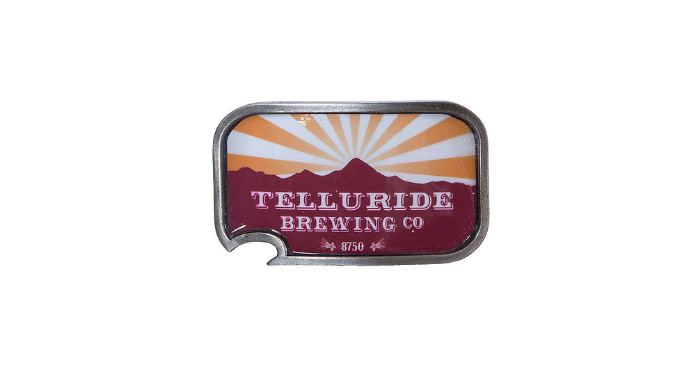 Telluride Brewing Co Bottle Opener Belt Buckle
