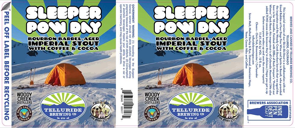 Sleeper Pow Day - Columbine - 3.5x8.1875
