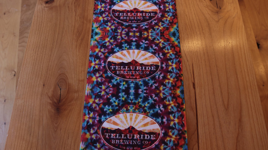 Telluride Brewing Co Face Mask/Neck Gaiter Multi-Color Tie Dye