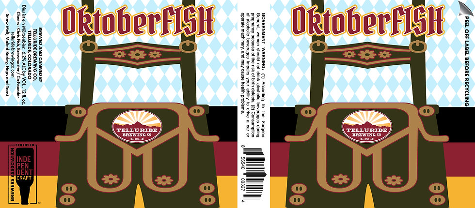 OktoberFISH Lederhosen USTL label ART.jp
