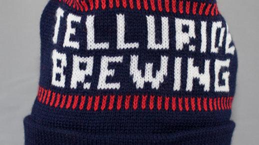 Telluride Brewing Co Knit Beanie with Pom Pom