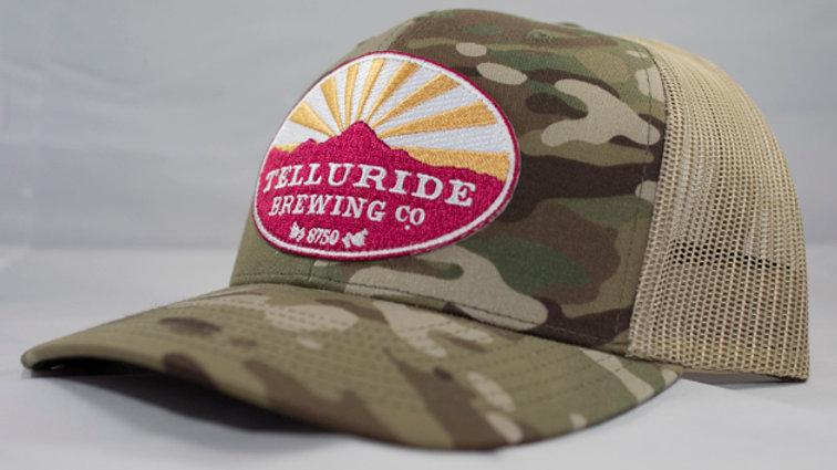 Camo Print Logo Trucker Hat