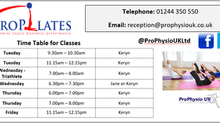 **NEW PROPILATES CLASSES**