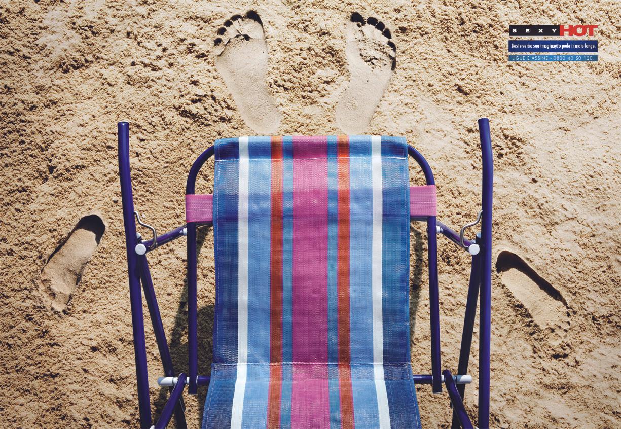 Anúncio de Revista  Sexyhot - Neste verão sua imaginação pode ir mais longe.