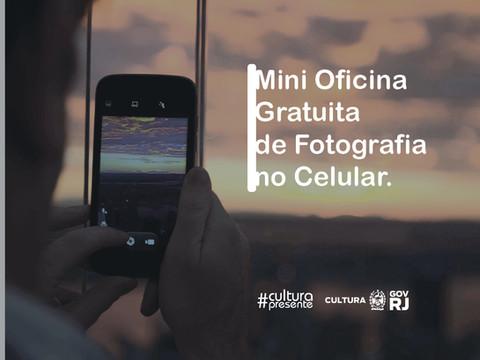 Oficina gratuita de fotografia no celular
